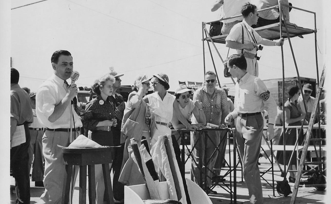 Sebring History Doug Smith, Reginald Smith at an early '50s Sebring driver meeting
