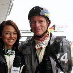 Thomas Murray in Silverstone with WEC Louise Beckett