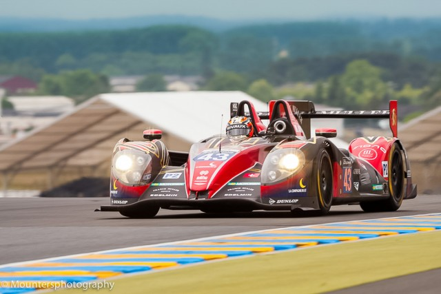Team SARD-Morand Morgan Evo SARD #43 driven by Pierre Ragues , Oliver Webb , Zoel Amberg Le Mans 24hr 2015 Test