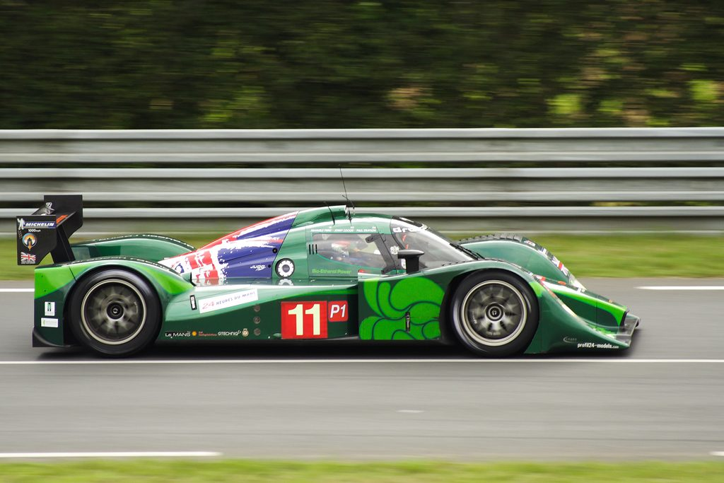 Paul Drayson drive his 2010 Lola B0960 in the 2010 Le Mans 24 Hour race Photo Russell Trow